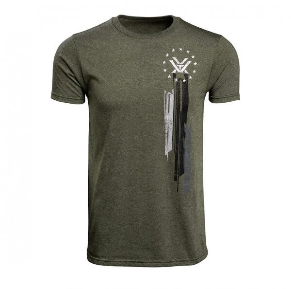 DOUBLE DOWN T-SHIRT - OLIVE HEATHER