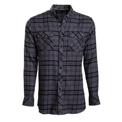 Vortex Black Flanell Hemd