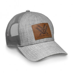 Vortex Cap hellgrau Leder Patch