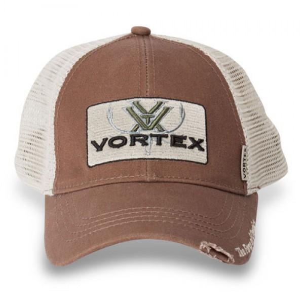 Vortex Elch Kappe Logo Braun