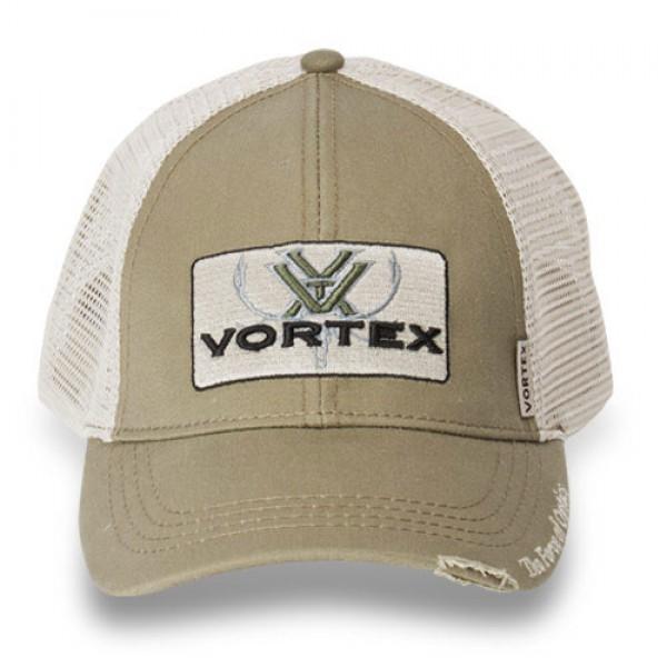 Vortex Elch Kappe Logo Fabric